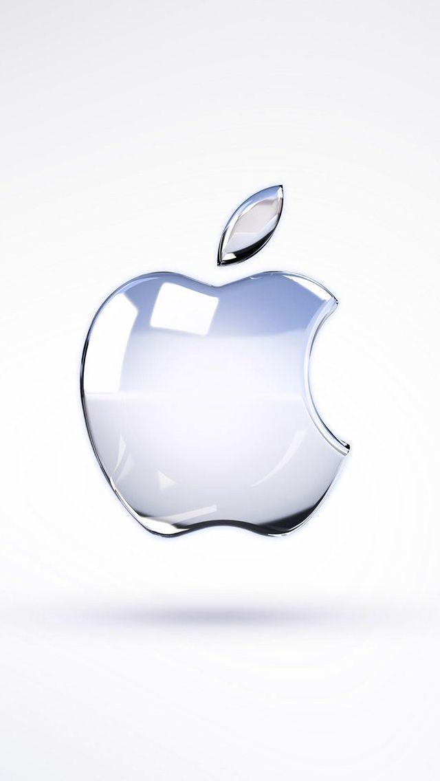 Apple Glass Logo 3D Render IPhone 5 Wallpaper