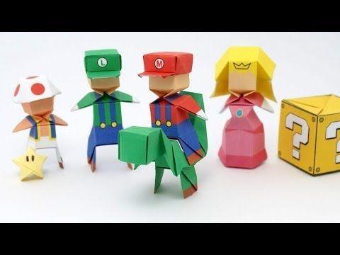 Origami Mario Jo Nakashima Youtube Origami Pinterest