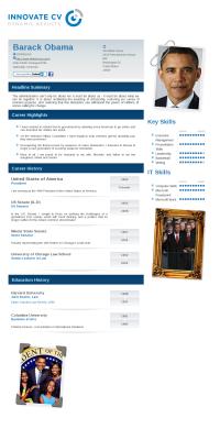 Attractive Barack Obamau0027s Innovate CV And Barack Obama Resume