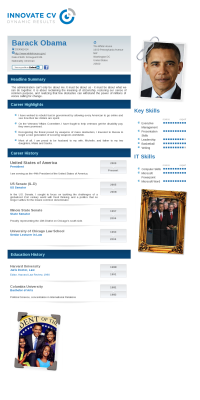 barack obama s innovate cv resumes pinterest