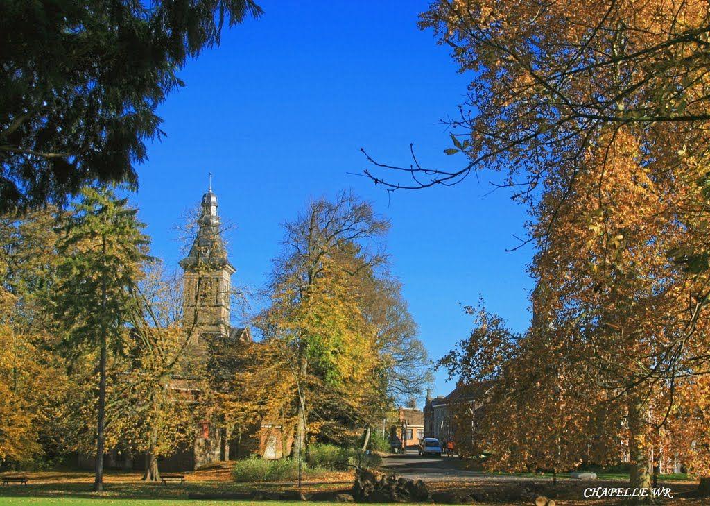 """Church St. Louis vue du parc de Monceau, Charleroi, Belgium. Photo: Chapelle """"Loup Gris"""""""