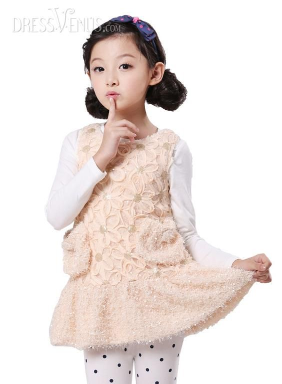 US$27.99 Top Quality Korean Style All-Matched Sleeveless Girl Kid\'s ...