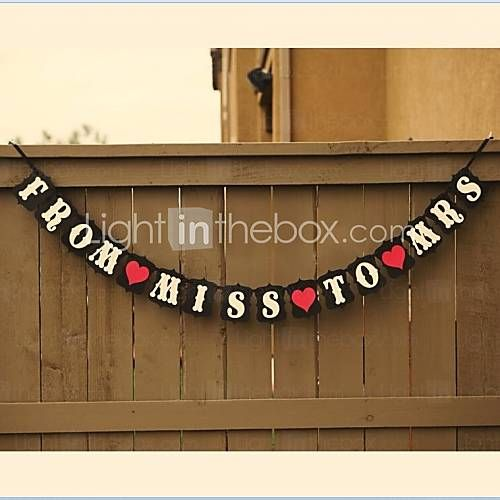FROM MISS TO MRS Bridal Shower Wedding Banner - AUD $ 14.29