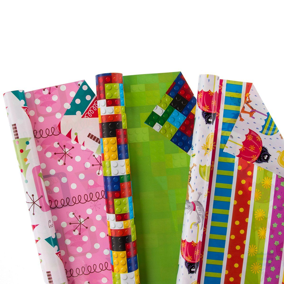 12 rolls alloccasion gift wrapping paper bulk set variety
