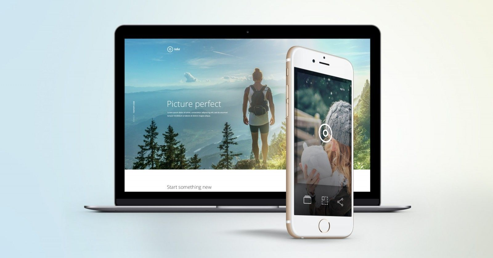 Take A Free Mobile App Landing Page Psd Template See Design Http