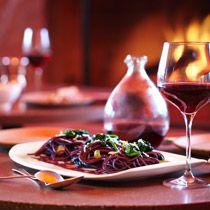 Drunken Spaghetti A new way to pair pasta with #wine recipe adapted from Michael Chiarello's Bottega