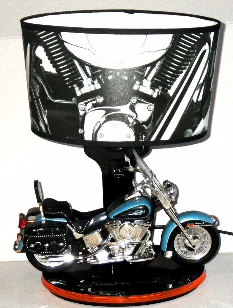 Harley Davidson Table Lamp With Nightlight Mode Amp Lamp Mode