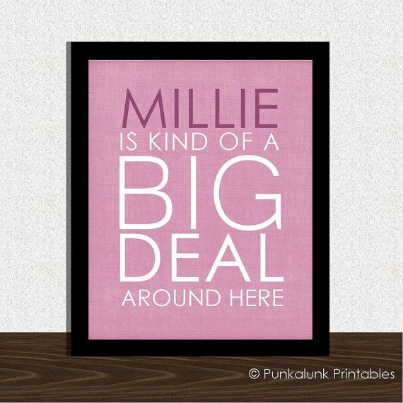 Personalized nursery art   Baby is a Kind by PunkalunkPrintables, $19.95