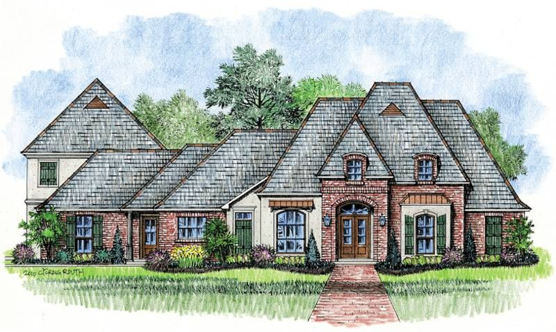 harrells ferry - country french home plans louisiana house plans