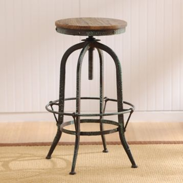 Industrial Black Amp Aqua Bar Stool Farmhouse Style