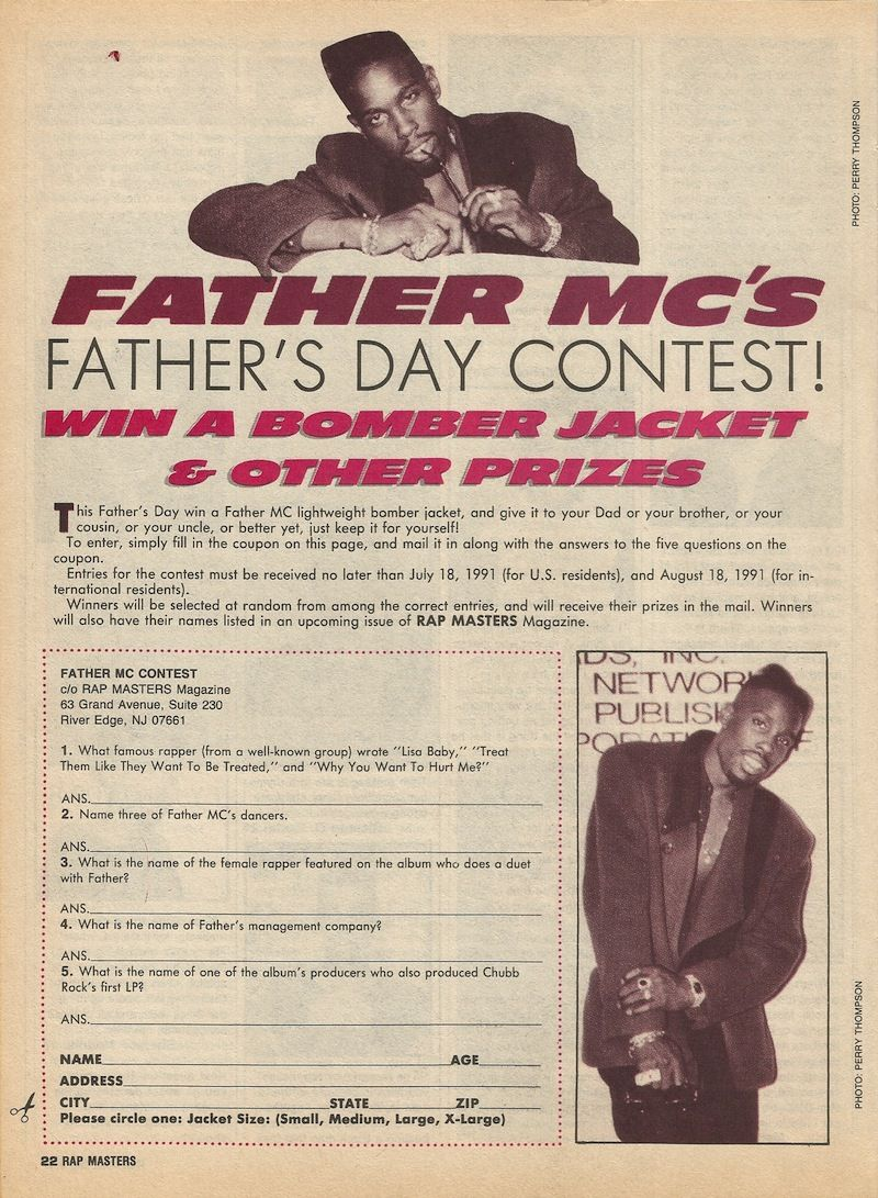 Father MC's Father's Day Contest [Rap Masters   1991   Back