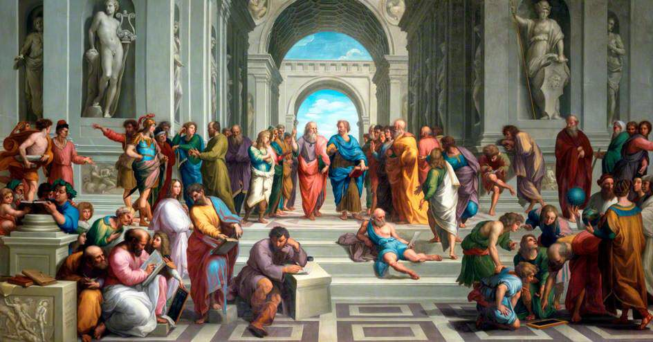 School Of Athens Close Up School Of Athens Liberal Arts Education Liberal Arts