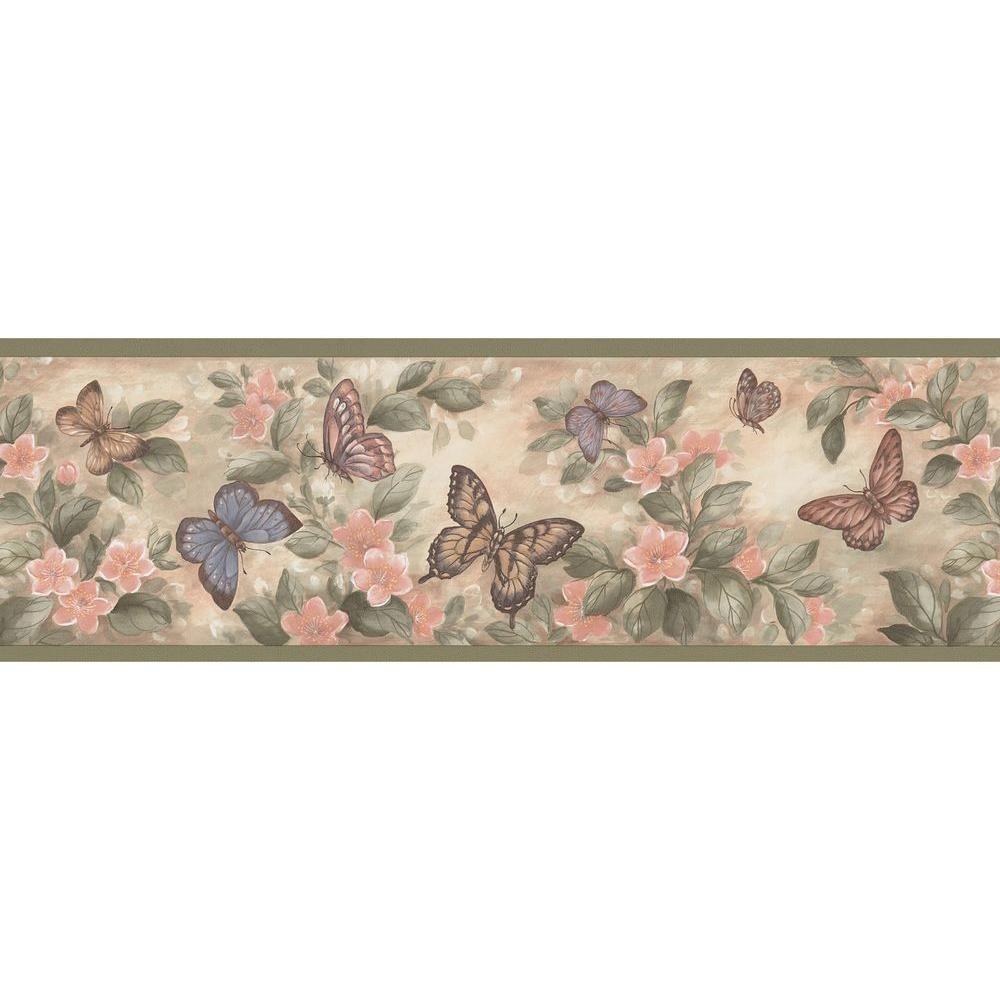 Brewster Butterflies Yellow Wallpaper Border 137b38633 The Home Depot In 2021 Butterfly Wallpaper Floral Wallpaper Border Butterfly Wallpaper Border