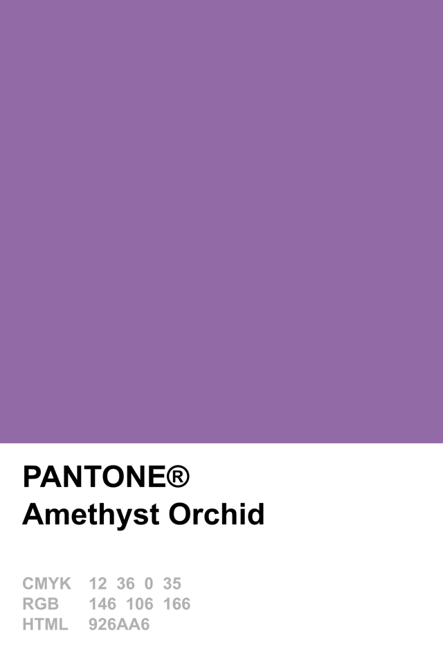 pantone 2015 amethyst orchid shades of purple pinterest couleurs pantone et violettes. Black Bedroom Furniture Sets. Home Design Ideas