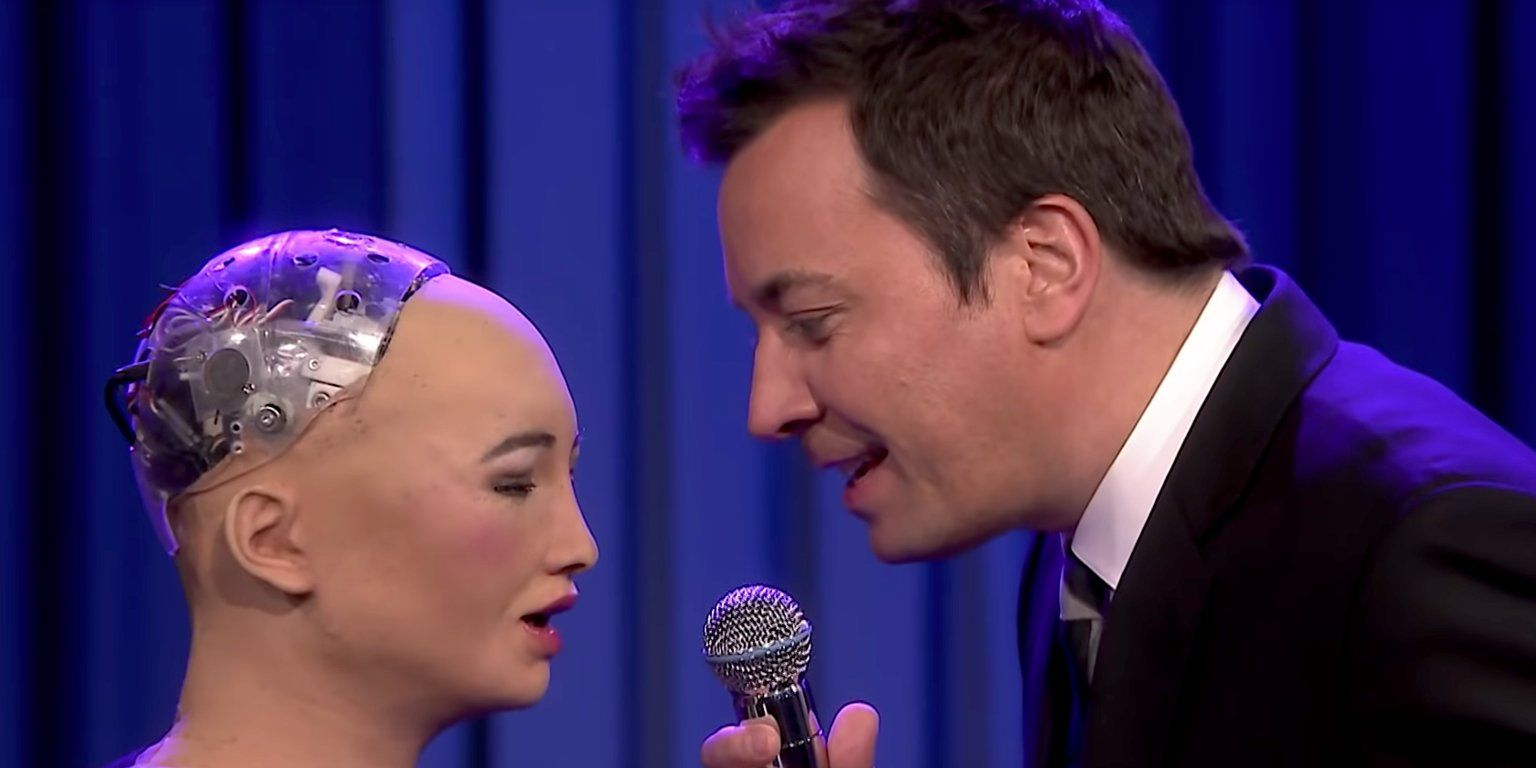 Jimmy Fallon Sang A Duet With Sophia The Robot And It Was As