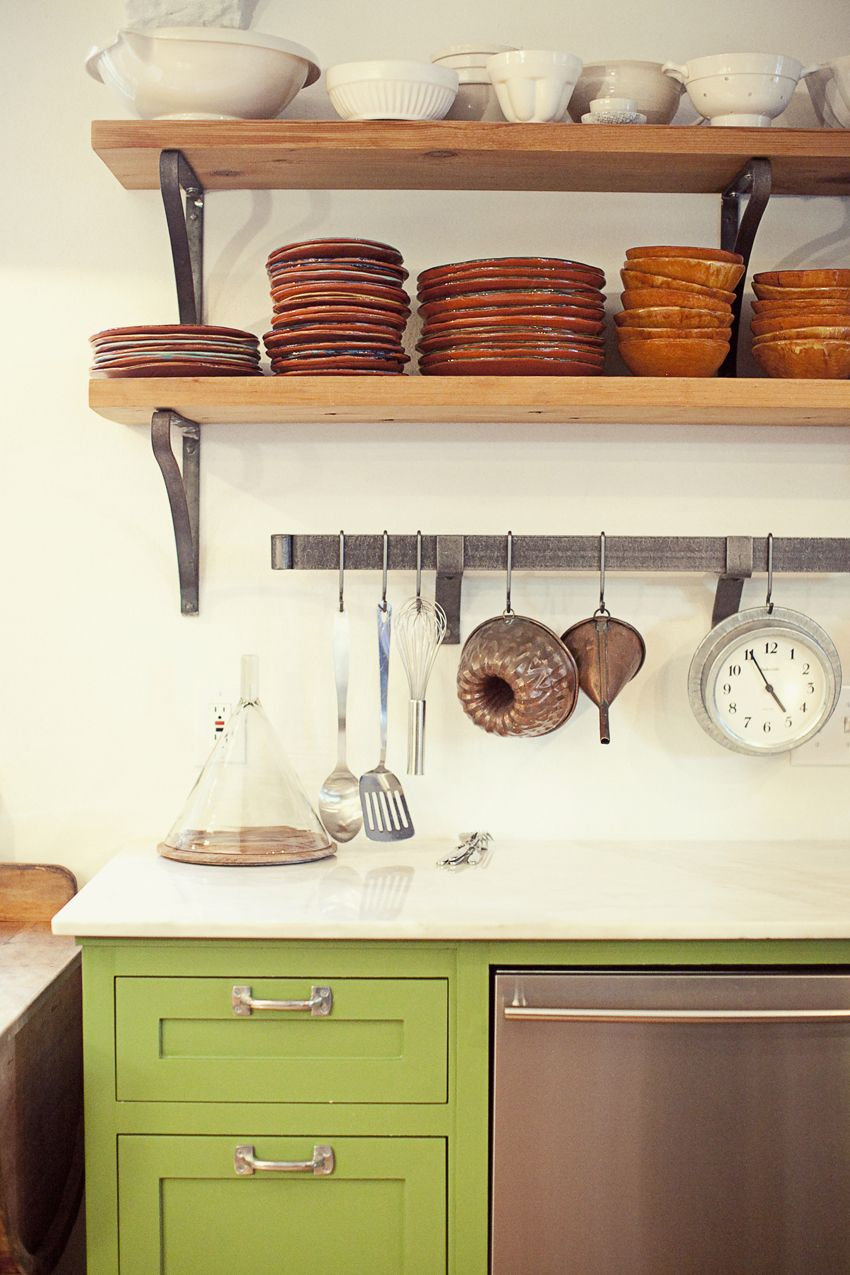 Open Shelving In Kitchen Cabinet Design Via The Marion House Book Lesley Unruh Photo 3rd Uncle