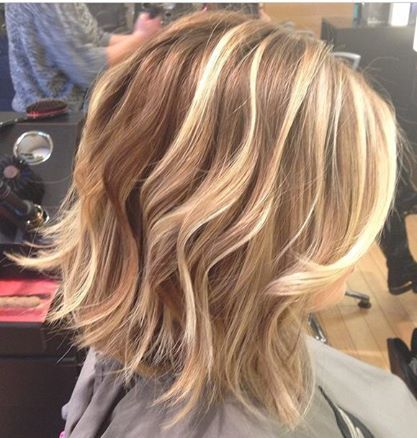 Blonde Blonde Highlights Short Hairstyles Lob Bob Bold Highlights Balayage Hair Painting Blonde Highlights Brown Hair With Blonde Highlights Hair Styles
