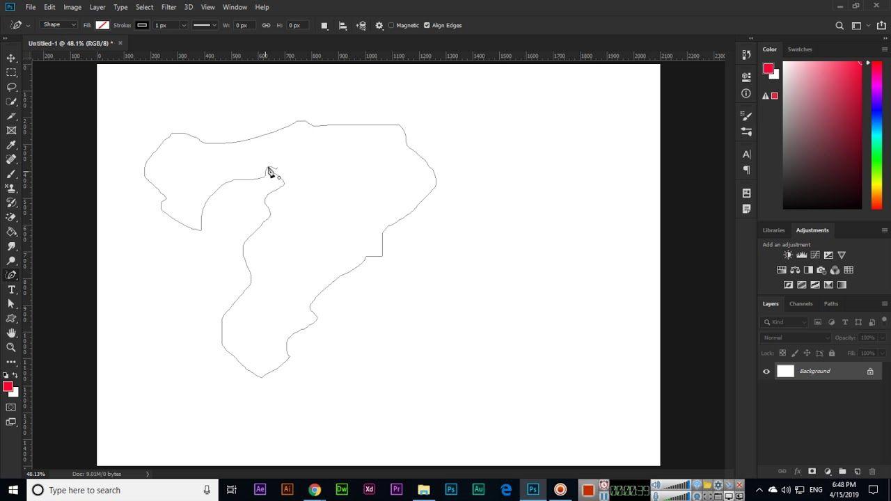 Freeform Pen Tool Adobe CC 2019 Pen tool