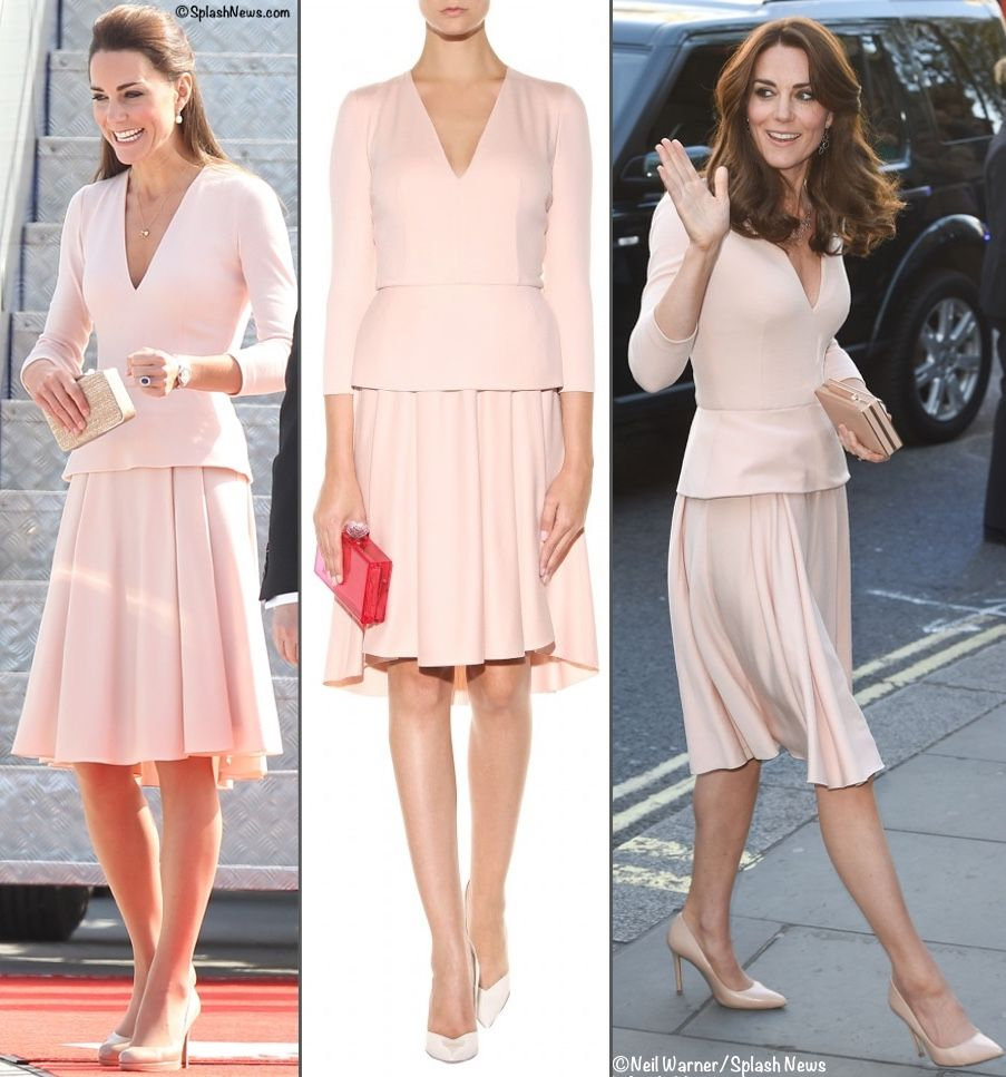 Now to what Kate wore for her visit to the Gallery, she was in an Alexander McQueen dress that was first worn in Australia in 2014.