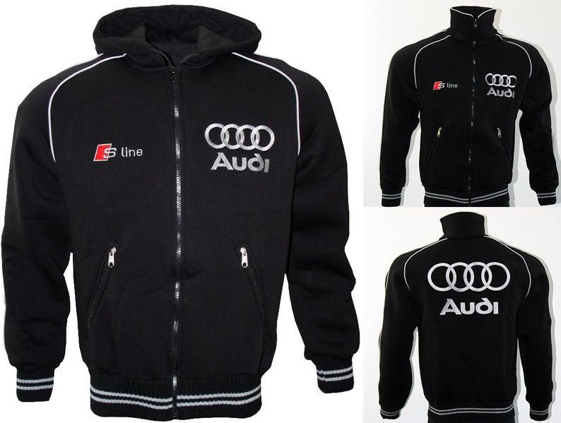 Audi S Line Fleece Jacket Parka Polaire Veste Mantel Jacke