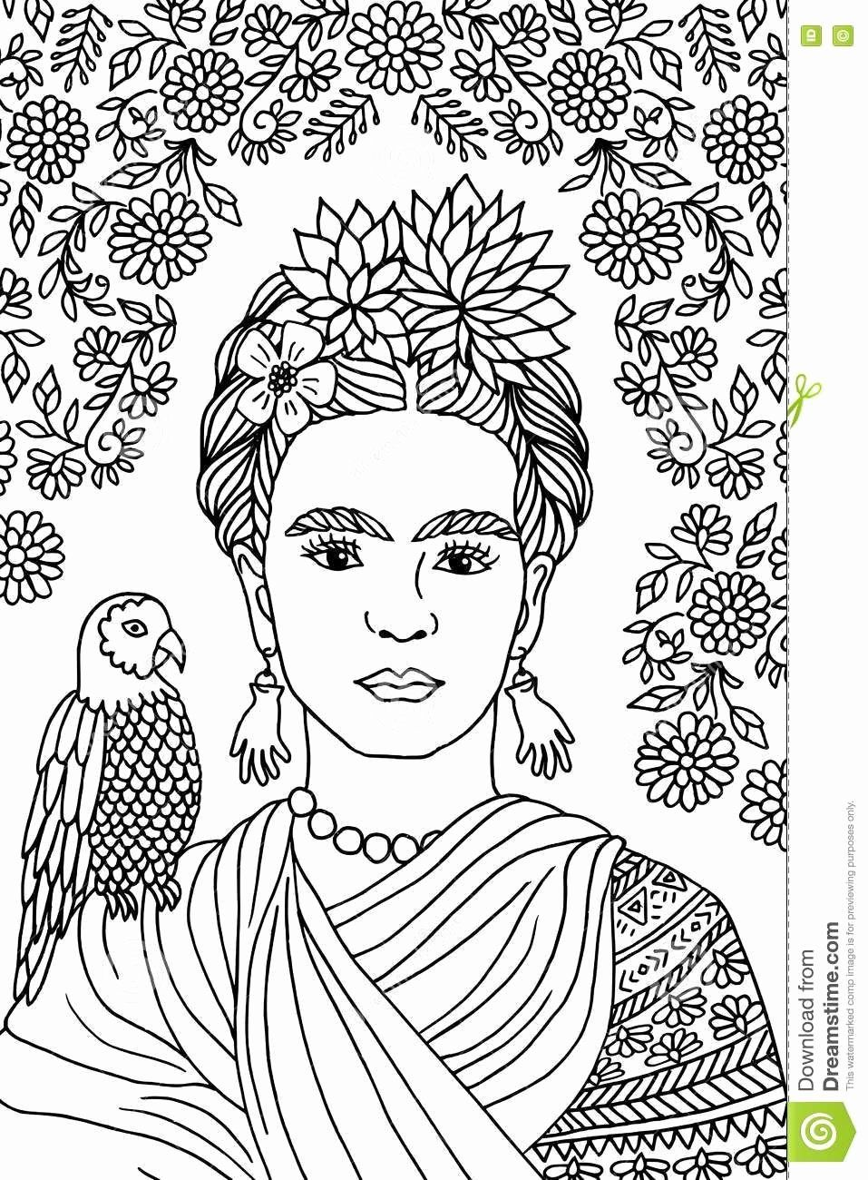 Frida Kahlo Coloring Page Luxury Related Image Frida Kahlo In 2019 Hand Drawn Portraits How To Draw Hands Drawings