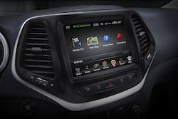 2014 Jeep Cherokee The 5 Inch Uconnect Infotainment System Makes It Easy To Enjoy Your Music With Standard Bluetooth Han Jeep Cherokee Uconnect Jeep