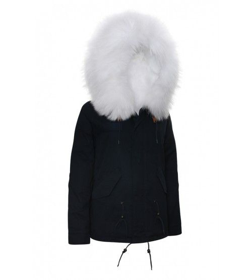 Navy Parka with Reversible White Fur | Wish list | Pinterest ...