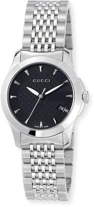 b275e66a266 Gucci 27mm G-Timeless Small Stainless Steel Bracelet Watch Black  watches   womens