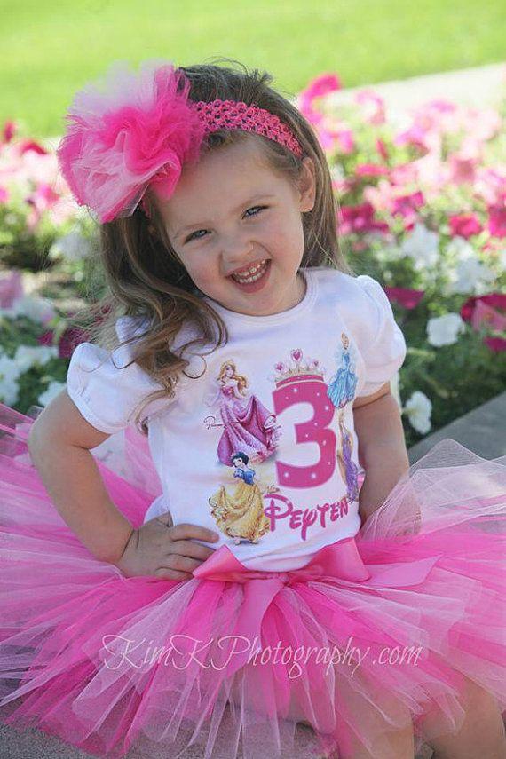 Disney Princess Birthday Shirt Personalized By BabyBirthdayTee