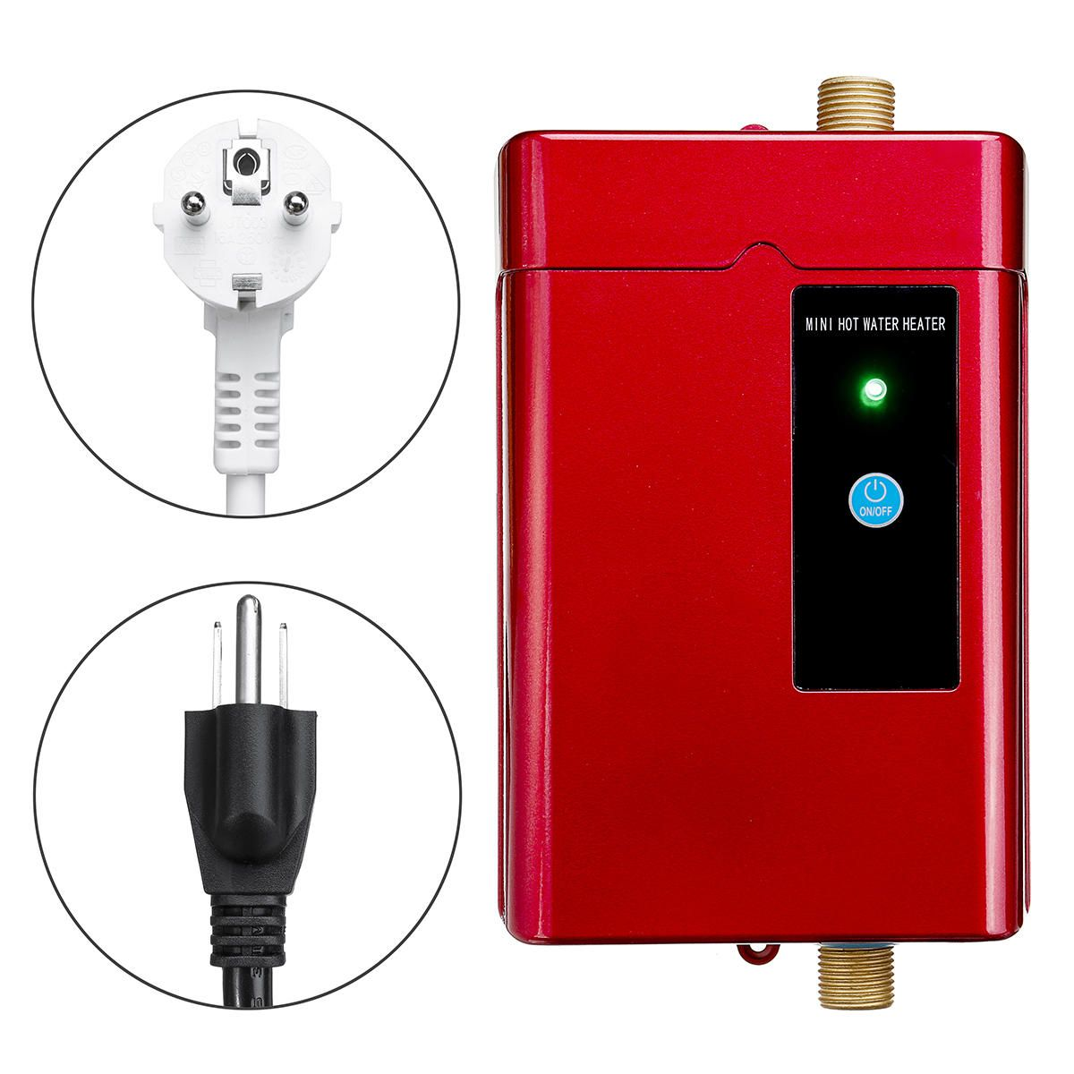 Electric Tankless Hot Water Heater Instant Heating For Bathroom Kitchen Washing Tankless Hot Water Heater Water Flow Save Water