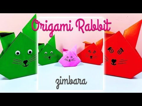 Photo of Origami rabbit // Bastelidee für einen Papierhasen