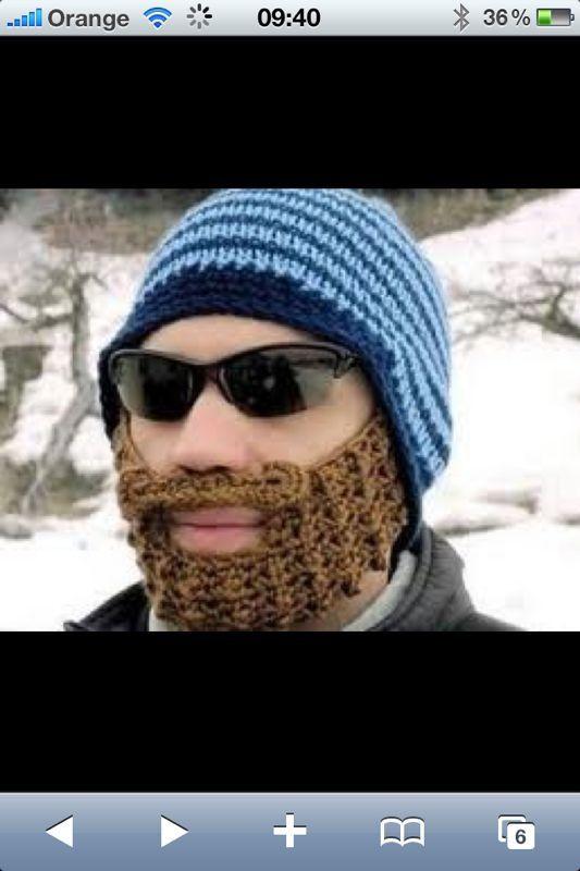 Barba de ganchillo, lo máximo!! | Funny things | Pinterest | Barba ...