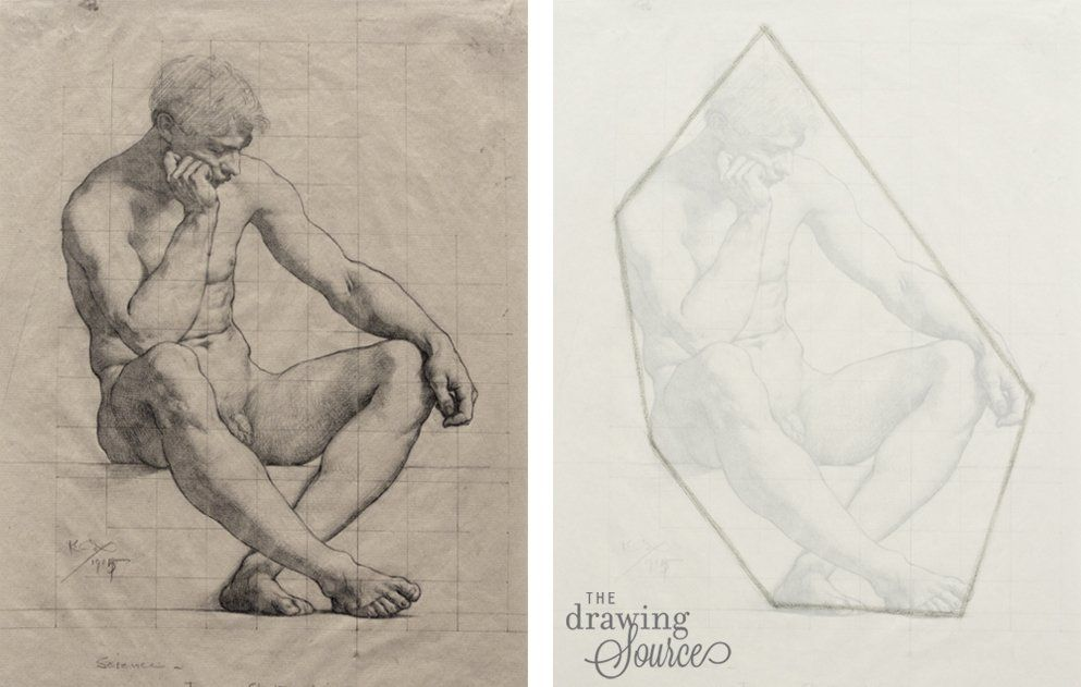 Drawing figures using the envelope method | Art Reference in