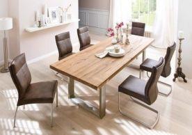 Moderne Massivholz Esstische sorgen für warmes Ambiente im Raum ...