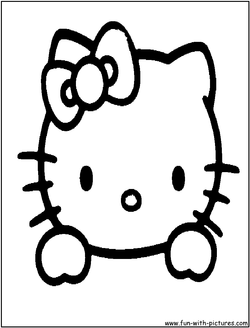 Hello Kitty Face Coloring Page Hello Kitty Hello Kitty Halloween Hello Kitty Colouring Pages