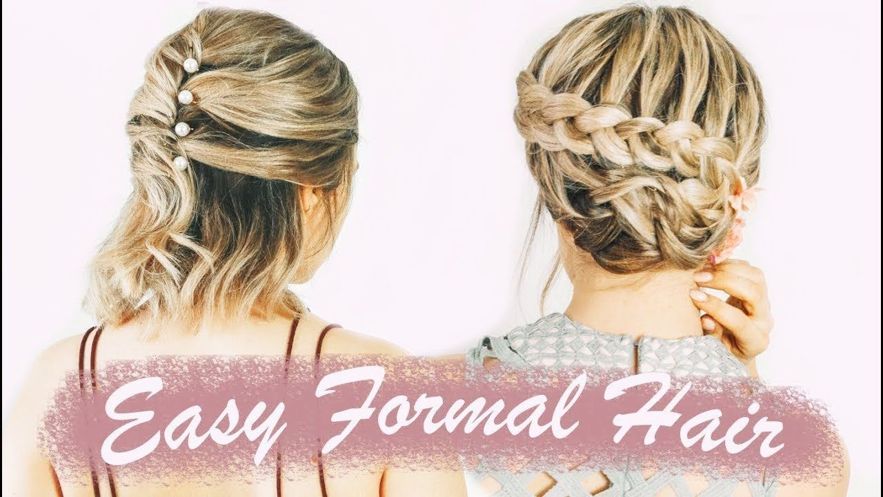 Easy short hairstyles for prom u weddings u formals hunkydory