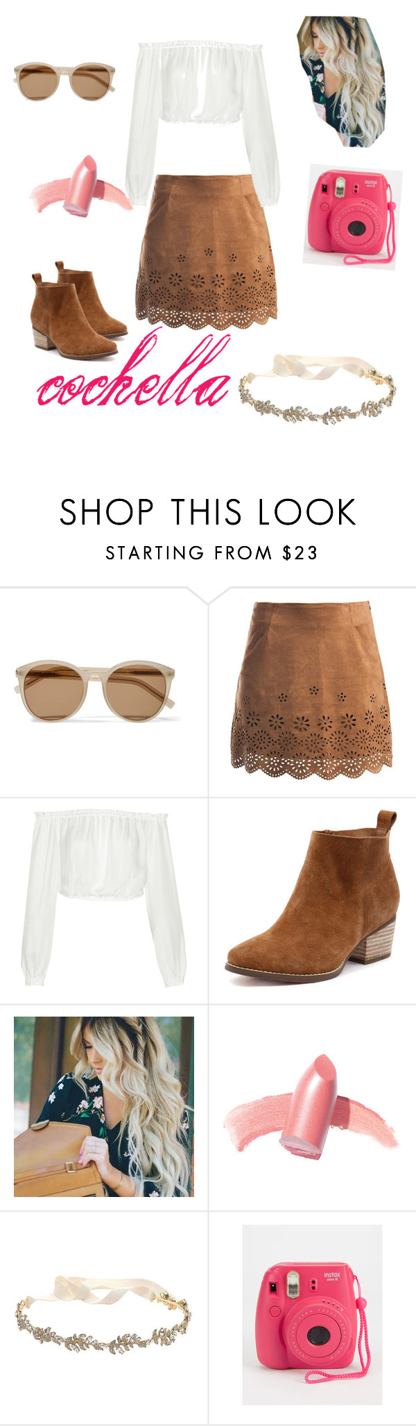 """cochella"" by cutedips ❤ liked on Polyvore featuring Yves Saint Laurent, Sans Souci, Elizabeth and James, Elizabeth Arden and Marchesa"