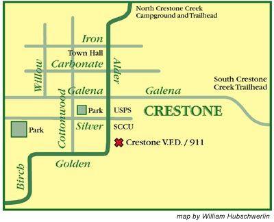 Crestone Map By William Hubschwerlin Colorado Homes Pinterest
