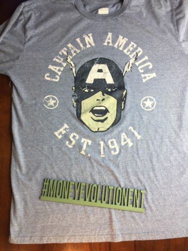 "#Popular - ""Captain America"" Marvel Comics Longsleeve T-Shirt Large Gray Blue https://t.co/HjJheCe1m4 - Ebay https://t.co/lxTmqfJcIg"