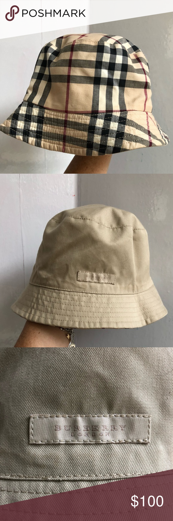 68e8f8932b0 Burberry Summer Bucket Hat This reversible packable classic Burberry bucket  hat is perfect to take on