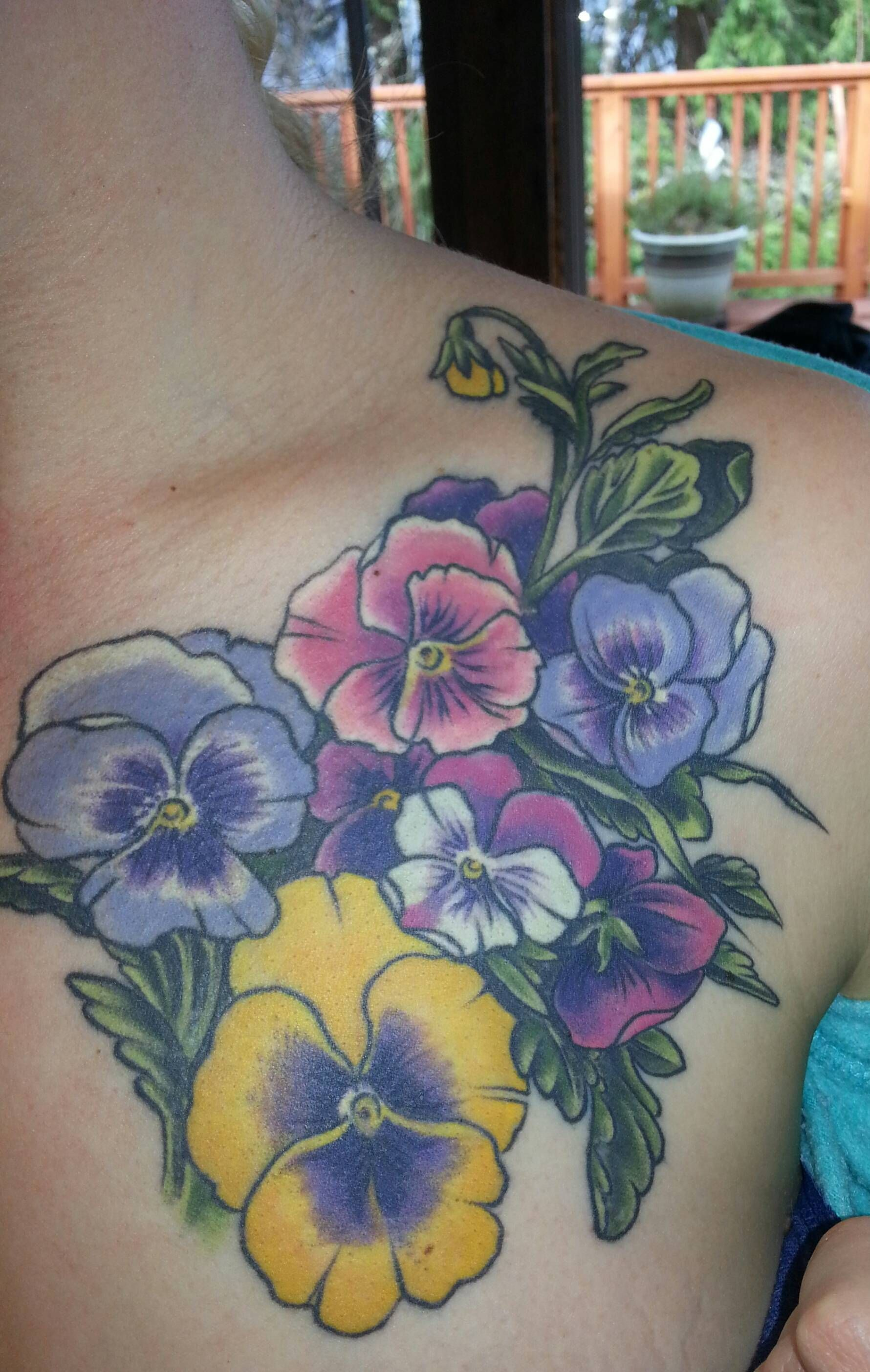 Pansy tattoo house of tattoo tac wa imgur pansy