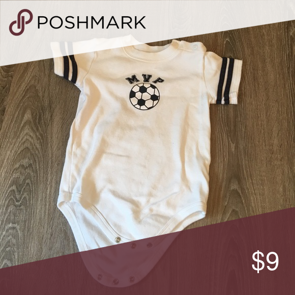 MVP Soccer Onesie 24mo Gently used, washed, clean, pet & smoke free home! One Pieces