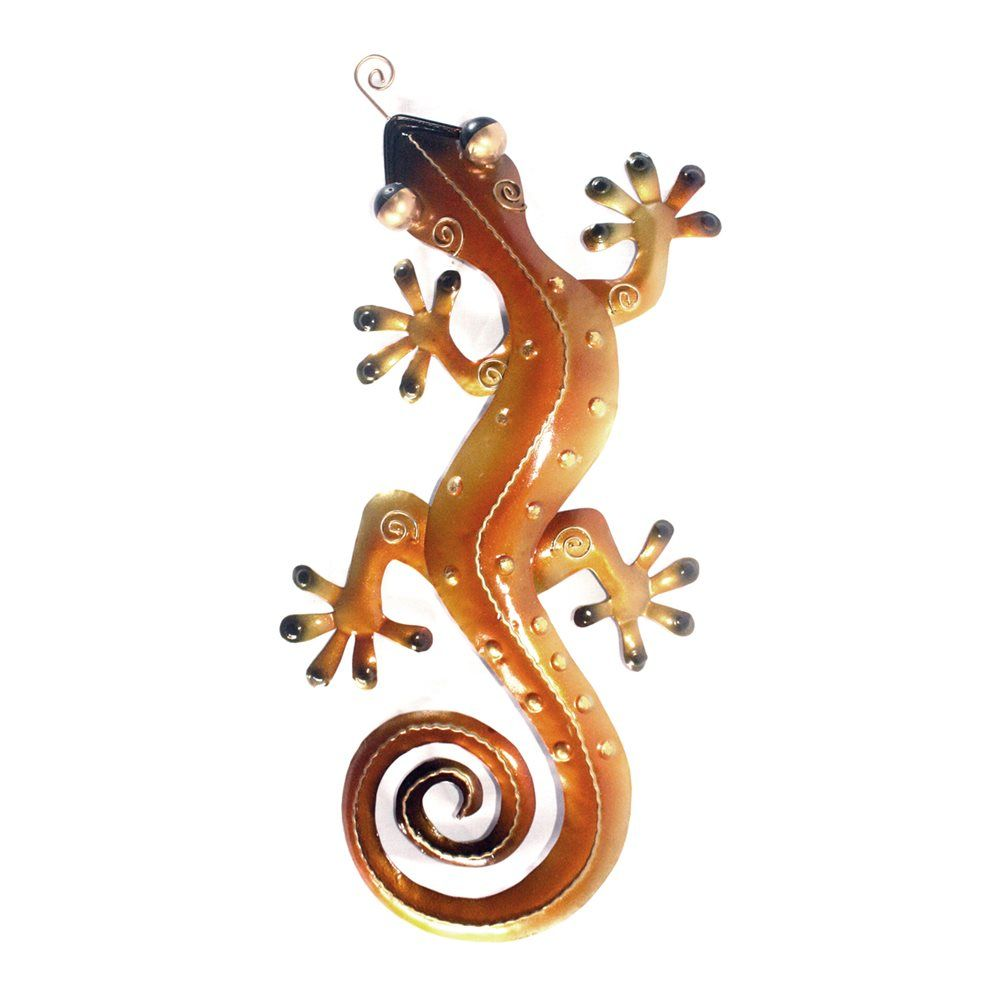 Model home today bww metal gecko wall décor atg stores deco
