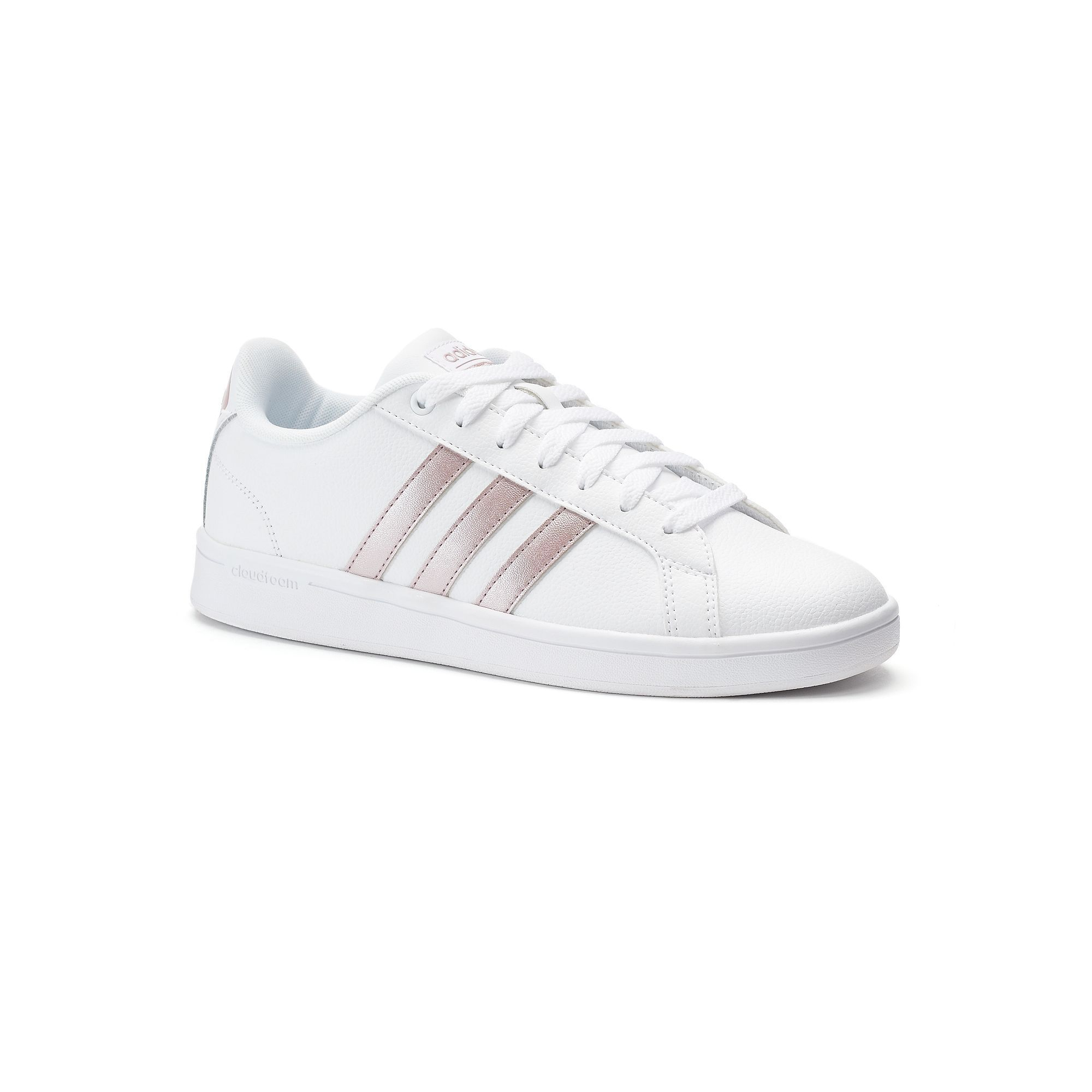 Adidas NEO Cloudfoam Advantage Stripe Women's Shoes, White