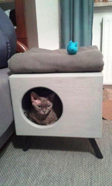 Domek Budka Dla Kota Na Nozkach Meble Dla Kota 7886182728 Oficjalne Archiwum Allegro Dog Cat Cats Toy Chest