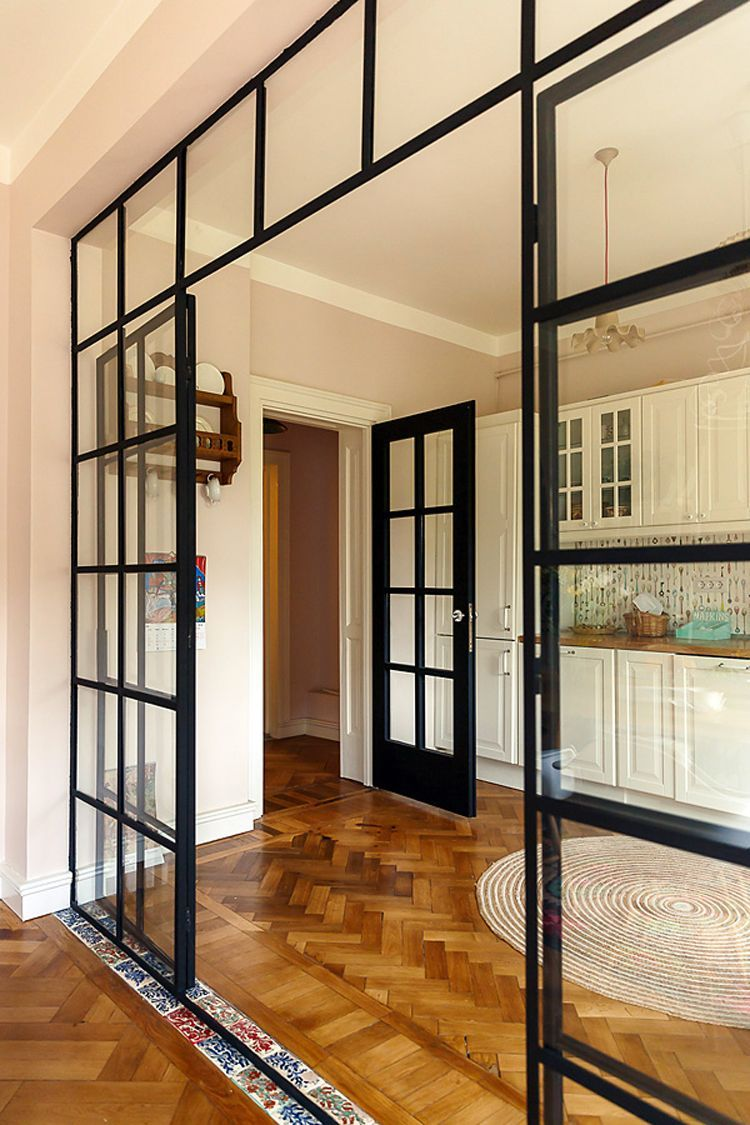 parete vetrata per dividere cucina e salotto parete di vetro ...