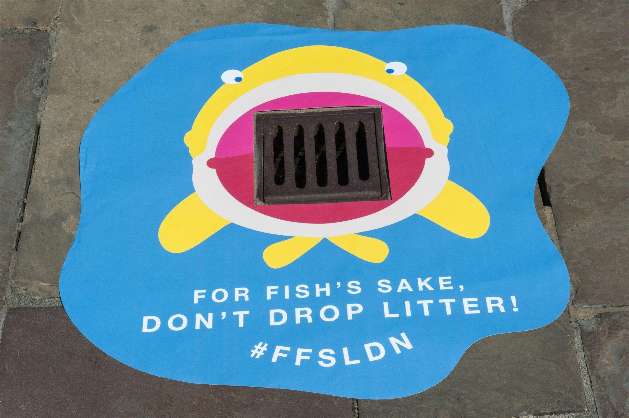 For fishs sake dont drop litter guerrilla advertising