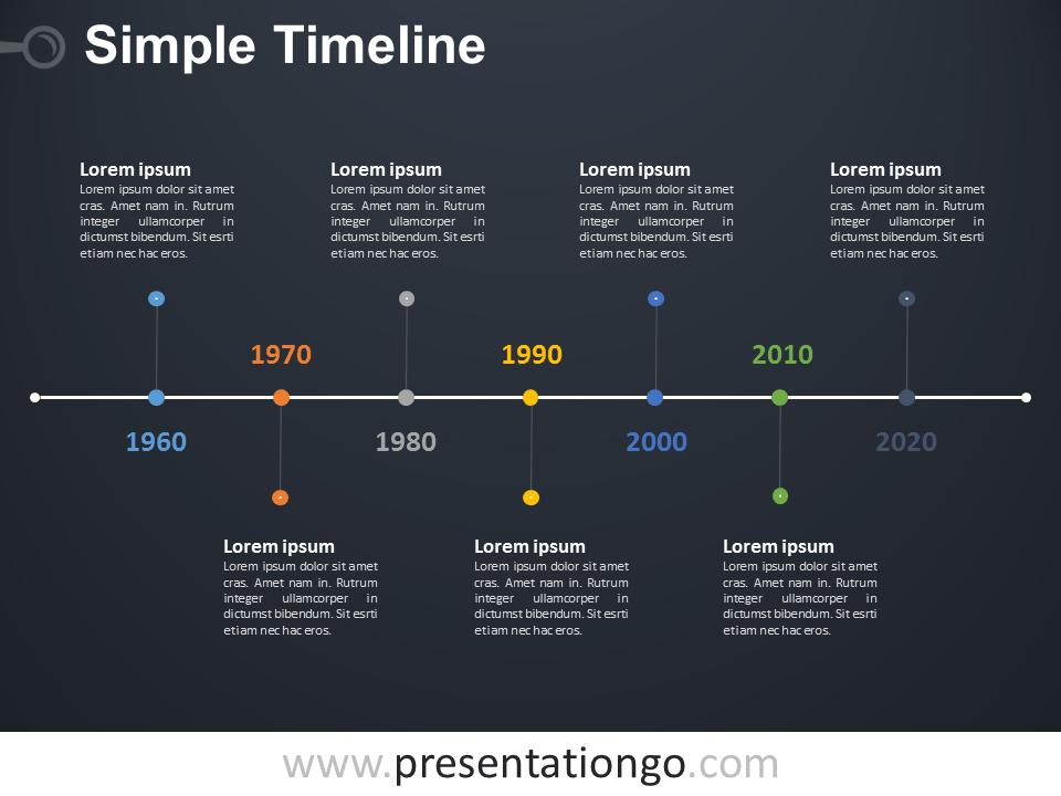 simple timeline powerpoint diagram presentationgo com design