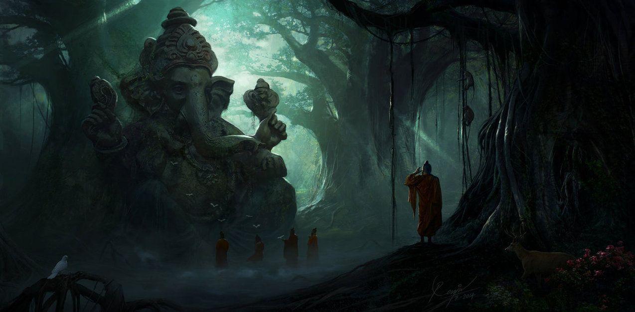Ganesh ruins concept by renjuart on deviantart muviana