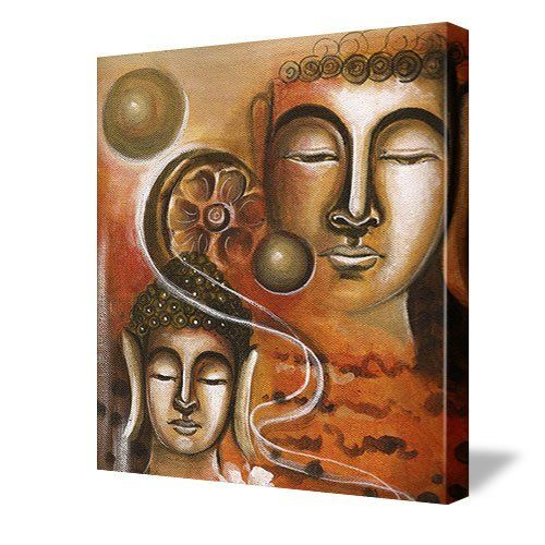 Buddha Wall Decor - Abstract Buddha Art Wall Canvas by Buddha Groove ...